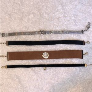 BUNDLE of 4 choker necklaces from Zara and Urban